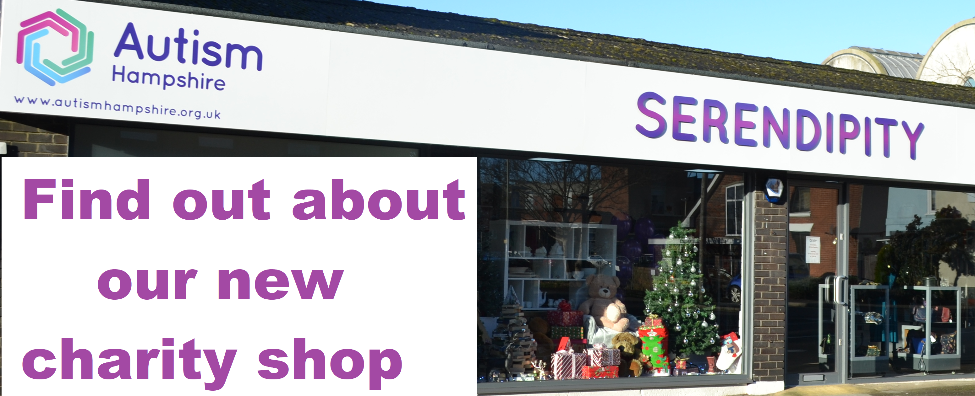 Visit our NEW charity shop - Serendipity